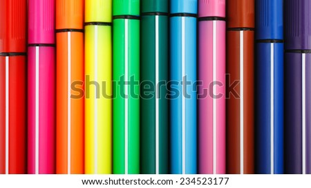 colored art background with markers - stock photo