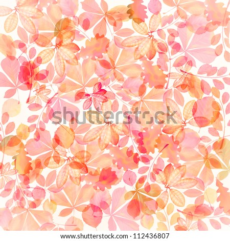 colored autumn leaves - stock photo
