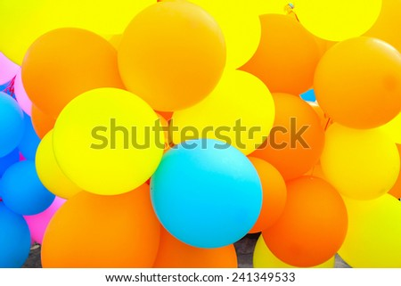 colored balloons - stock photo