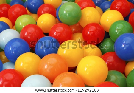 colored balls background - stock photo