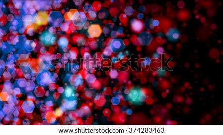 Colored bokeh backdrop for abstract horizontal background - stock photo
