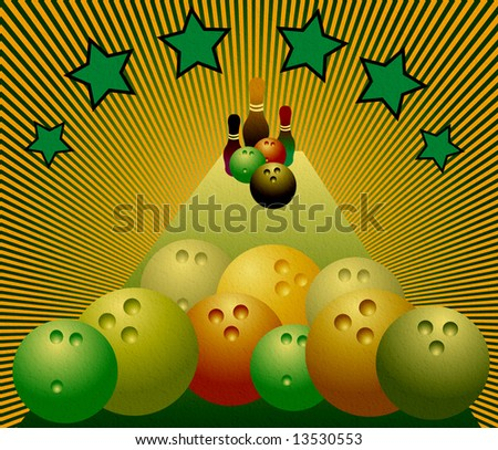 Colored bowling balls - stock photo