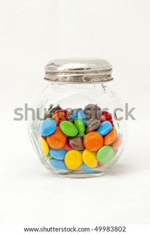 colored candy jar - stock photo