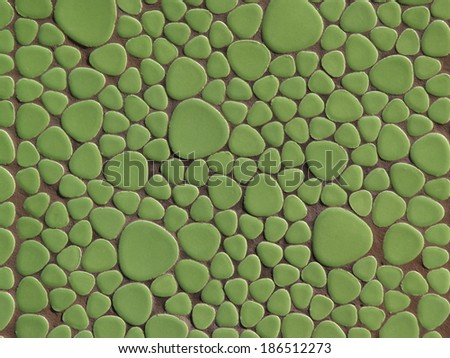 Colored ceramic mosaic tiles texture - stock photo