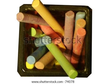 Colored Chalk - stock photo