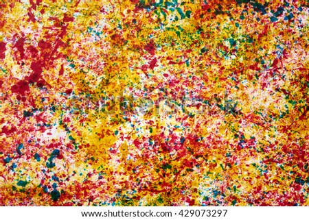 colored decorations on paper                                - stock photo