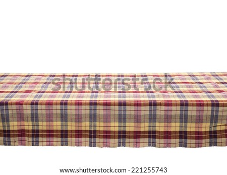 colored fabric cloth table isolated - stock photo