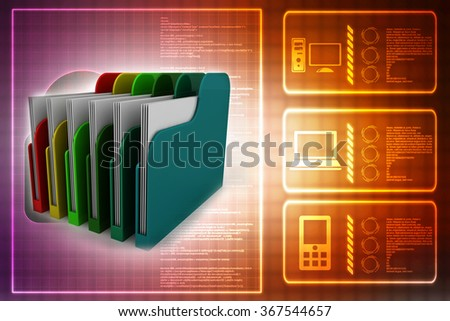 Colored folders - stock photo