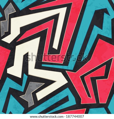 colored geometric seamless pattern with glass effect (raster version) - stock photo