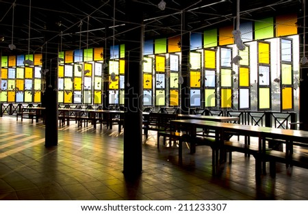 Colored glass antique Thailand  - stock photo