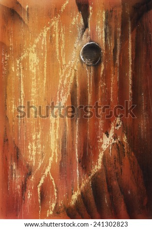 Colored illustration texture of the wood by hand drawn - stock photo