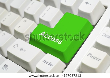 Colored key with a message - stock photo