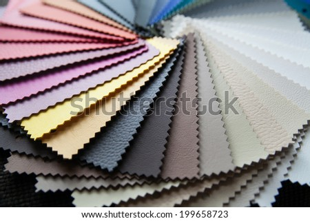 colored leather - stock photo