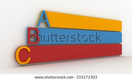 Colored Letters - stock photo