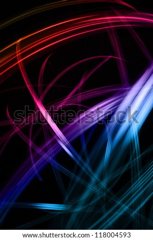 colored lines - stock photo
