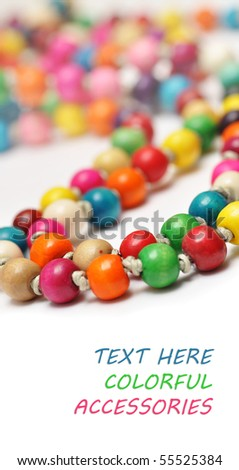 Colored Necklace handmade - stock photo