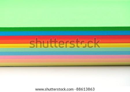 Colored paper - stock photo