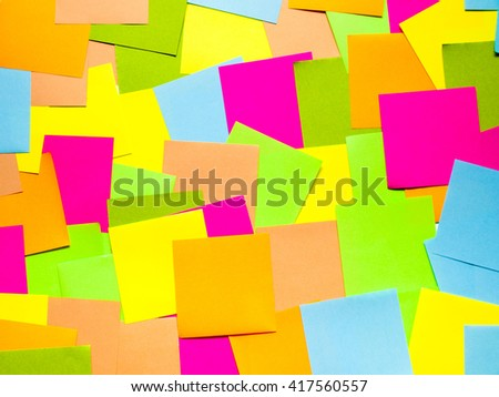 Colored paper for notes - stock photo