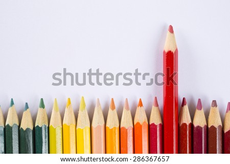 Colored Pencils,outstanding concept - stock photo
