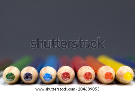 Colored pencils photographed in a studio environment  - stock photo