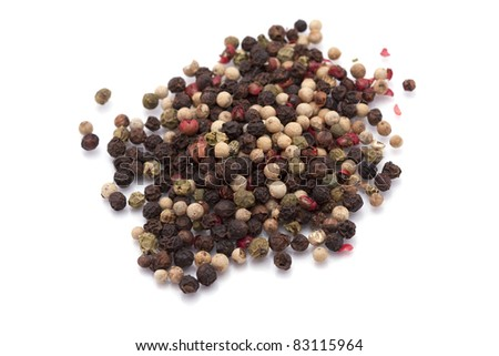 colored pepper seeds - stock photo