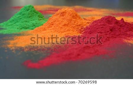 colored powder - stock photo