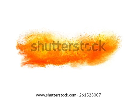 Colored powder isolated on white background close up - stock photo