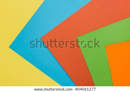colored sheets of paper - stock photo