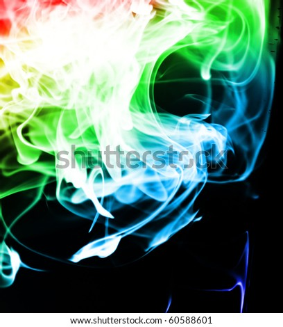 Colored Swirls - stock photo