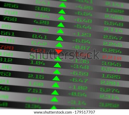 Colored ticker board on black - stock photo