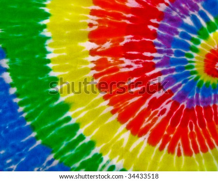 colored tie-dye - stock photo