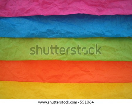 Colored tissuepaper for presents. - stock photo