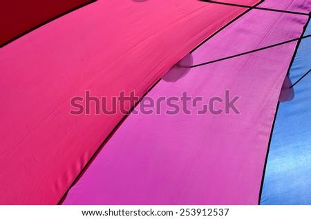colored umbrellas - stock photo