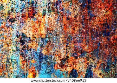 Colored wall, painted with the old paint - stock photo