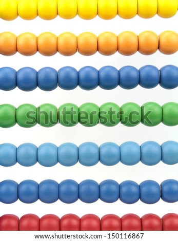 Colorful abacus beads - stock photo