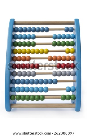 Colorful abacus isolated on white  - stock photo