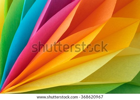 Colorful abstract background made of paper - stock photo