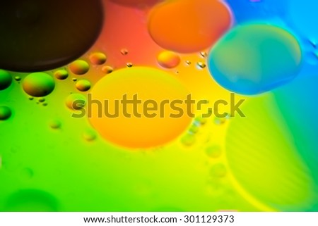 Colorful abstract background, oil on water surface  - stock photo