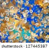 Colorful abstract background with bubbles - stock photo