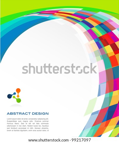 colorful abstract banner - stock photo