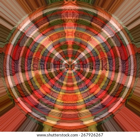 Colorful abstract blurred design with colorful threads - stock photo