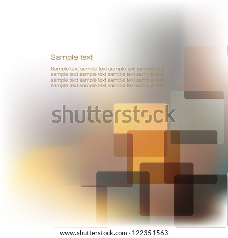 Colorful Abstract Card, - stock photo