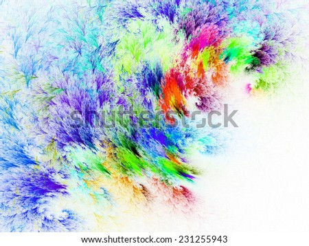 colorful Abstract clouds on White  background - stock photo