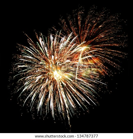 Colorful abstract fireworks background - stock photo