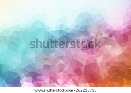 Colorful abstract geometric background with triangular polygons - stock photo