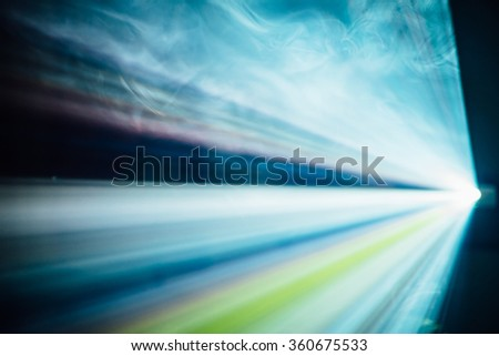 Colorful, Abstract Light Flare 1 - stock photo