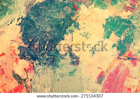 Colorful abstract painted background - stock photo