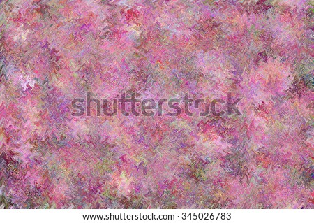 COLORFUL ABSTRACT SYMMETRIC PATTERN. Realized mostly in tints of a lilac, purple and violet colors. Print design. For textile fabrics, wallpapers, background, warping paper, backdrop etc.  - stock photo