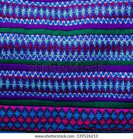 Colorful African Peruvian Style Rug Surface Close Up More