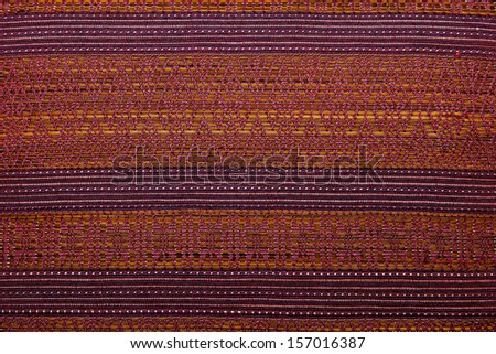 Colorful african peruvian style rug surface close up. More of this motif & more textiles in my port. - stock photo